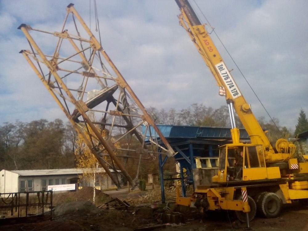 Choceň demontáž betonárky (2)